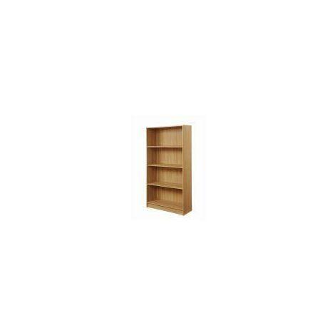 4 Tier Bookcase Tall Display Shelving Storage Unit Wood Furniture Oak