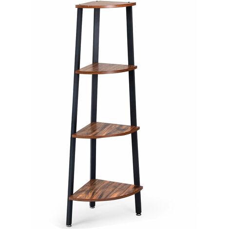 4 Tier Corner Shelf Storage Rack Organiser Ladder Display Bookshelf Office Home