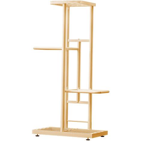 4-Tier estante de exhibicion del estante Macetas Planta soporte para macetas Escalera Planter soporte para trabajo pesado estanterias de almacenamiento en rack de plantas en maceta, Oro
