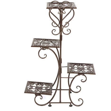 4 Tier Layer Flower Plant Pot Stand 57*25*81cm Coffee Display Shelf Home Garden Outdoor Decor Rack