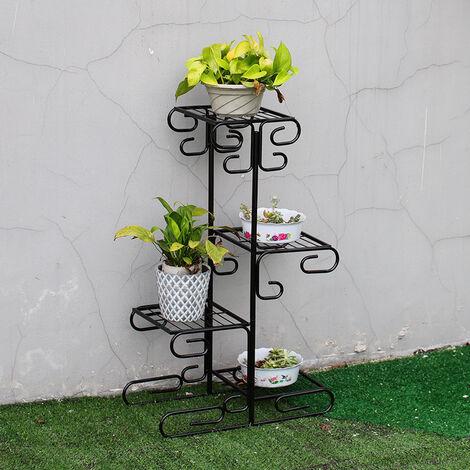 4 Tier Plant Stand Display Shelf Flower Pot Holder Rack