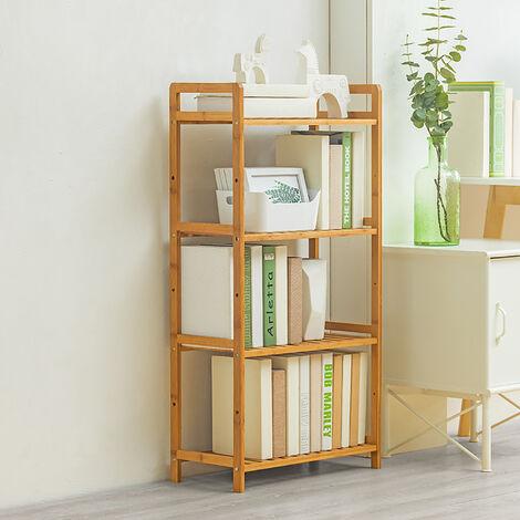 4 Tier Wooden Storage Shelf Bookcase Display Stand