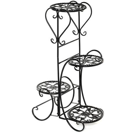 4 Tiers Metal Plant Stand Flower Pot Rack Holder 46*26*81cm
