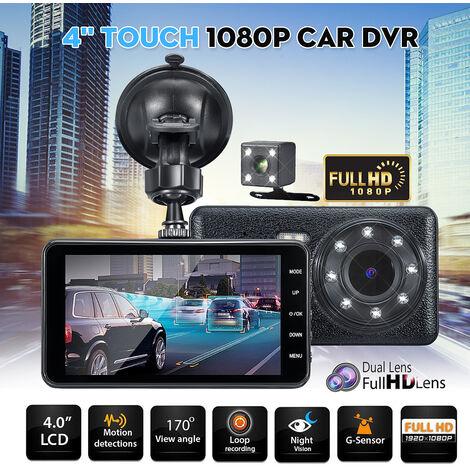 4 '' Touch Screen 1080P Car DVR Dual Lens Dash Cam G-sensor Video Camera Recorder