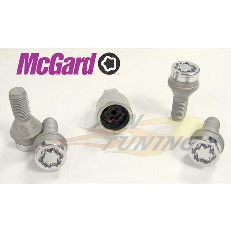 4 vis - 12x125 - L24.1 - H17 - Conique - Chrome - Antivol de Roues - 27216SU McGard