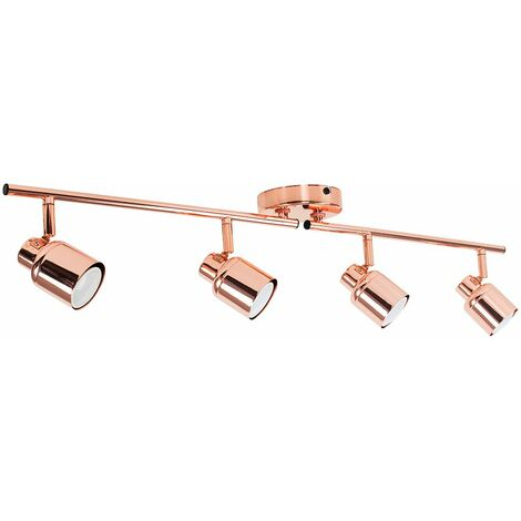4 Way Spotlight Bar Copper Ceiling Light