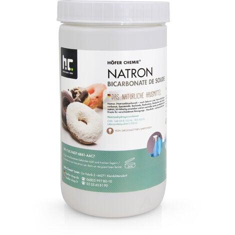 4 x 1 kg de bicarbonate de sodium en qualité alimentaire - l'aide ménagère parfaite