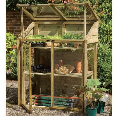 4' x 2' (1.20x0.62m) Wooden Mini Greenhouse