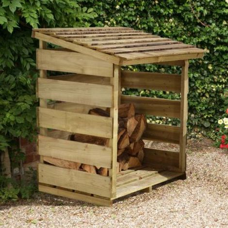 4' x 2' Forest Log Store (1.16x0.64m)