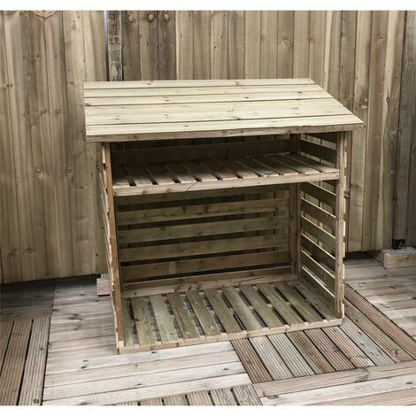 4 x 2 Pressure Treated Tongue And Groove Log Store (show Site)