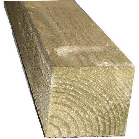 "4"" x 4"" (100mm) Pressure Treated Timber Wooden Gate Fence Post - L: 2.4m - pack of 10"