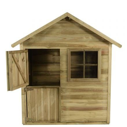 4' x 4' (1.2x1.2m) Forest Play-Plus Charlie Pressure Treated Playhouse