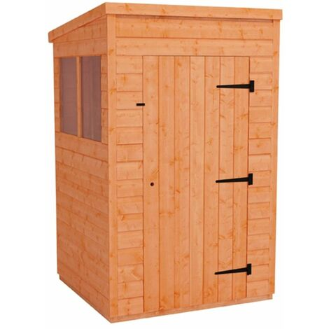 4 x 4 Tongue and Groove Pent Shed (12mm Tongue and Groove Floor and Roof)