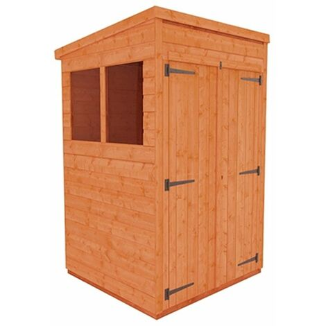 4 x 4 Tongue and Groove Pent Shed with Double Doors (12mm Tongue and Groove Floor and Roof)
