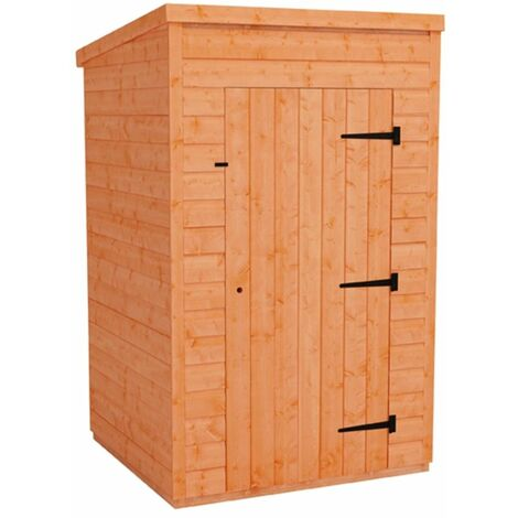 4 x 4 Windowless Tongue and Groove Pent Shed (12mm Tongue and Groove Floor and Roof)