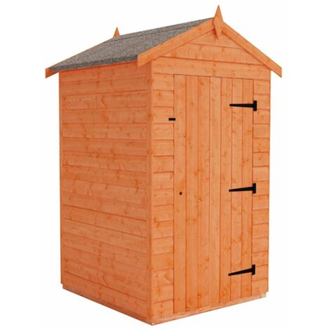 4 x 4 Windowless Tongue and Groove Shed (12mm Tongue and Groove Floor and Apex Roof)