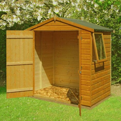4 x 6 Bute Shiplap Shed with Double Doors