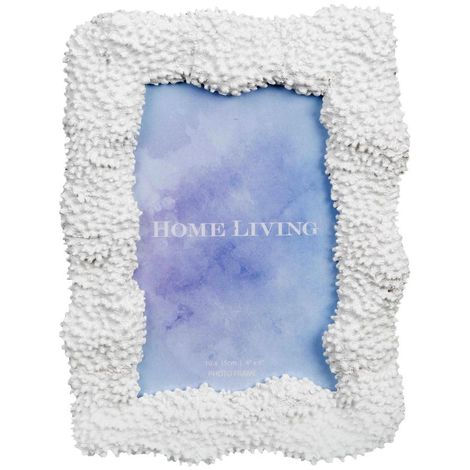 4' x 6' - Home Living White Resin Coral Photo Frame