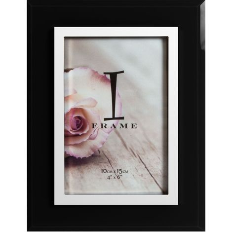 4' x 6' - iFrame Black & Silver Tone Photo Frame