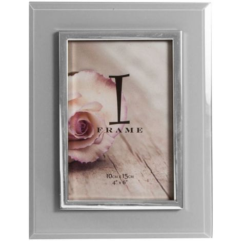 4' x 6' - iFrame Grey & Silver Tone Photo Frame