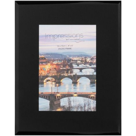 4' x 6' - Impressions Plain Black Glass Photo Frame