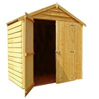 4 x 6 Overlap Shed with Double Doors
