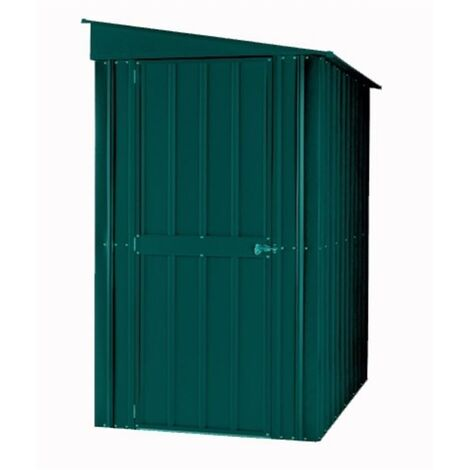 4 x 6 Premier EasyFix - Lean To - Metal Shed - Heritage Green (1.24m x 1.80m)