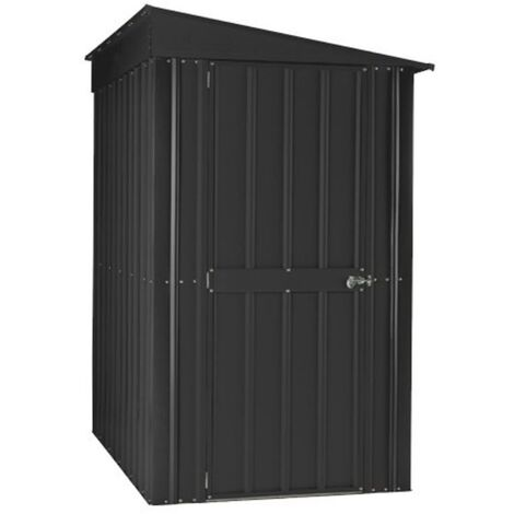 4 x 6 Premier EasyFix - Lean To Pent - Metal Shed - Anthracite Grey (1.24m x 1.80m)