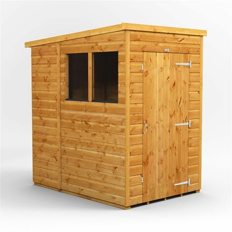 4 x 6 Premium Tongue and Groove Pent Shed - Single Door - 2 Windows - 12mm Tongue and Groove Floor and Roof