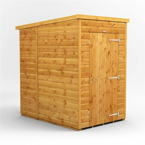 4 x 6 Premium Tongue and Groove Pent Shed - Single Door - Windowless - 12mm Tongue and Groove Floor and Roof