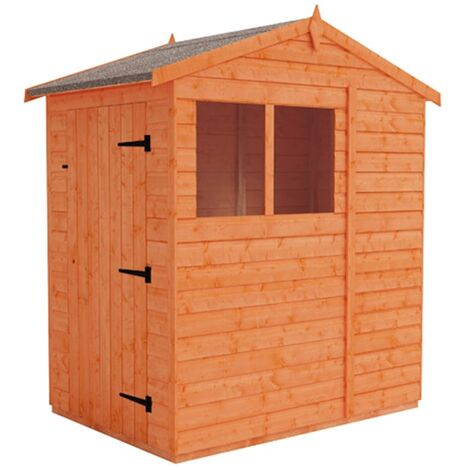 4 x 6 Tongue and Groove Shed (12mm Tongue and Groove Floor and Apex Roof)