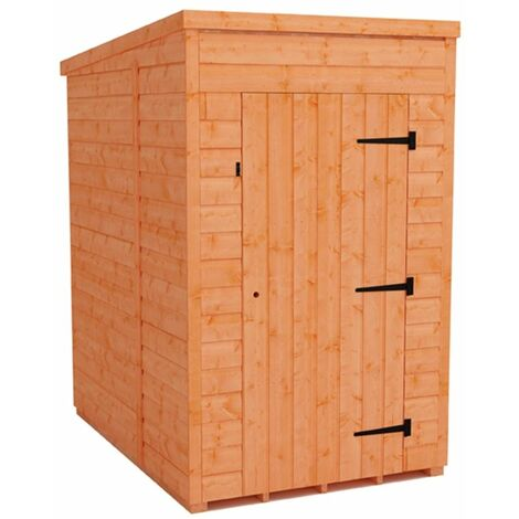 4 x 6 Windowless Tongue and Groove Pent Shed (12mm Tongue and Groove Floor and Roof)