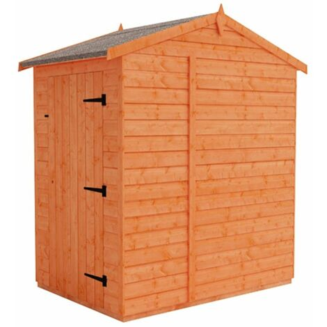 4 x 6 Windowless Tongue and Groove Shed with (12mm Tongue and Groove Floor and Apex Roof)