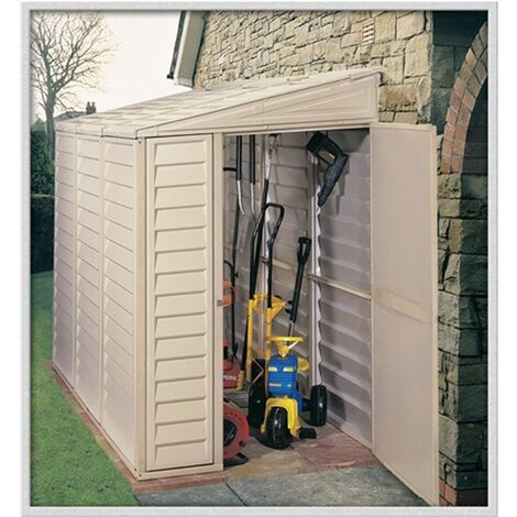 4 x 8 Deluxe Duramax Plastic Sidemate Pvc Shed With Steel Frame (1.21m x 2.39m)