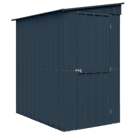 4 x 8 Premier EasyFix - Lean To Pent - Metal Shed - Anthracite Grey (1.24m x 2.42m)