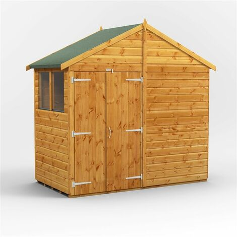 4 x 8 Premium Tongue and Groove Apex Shed - Double Door - 4 Windows - 12mm Tongue and Groove Floor and Roof