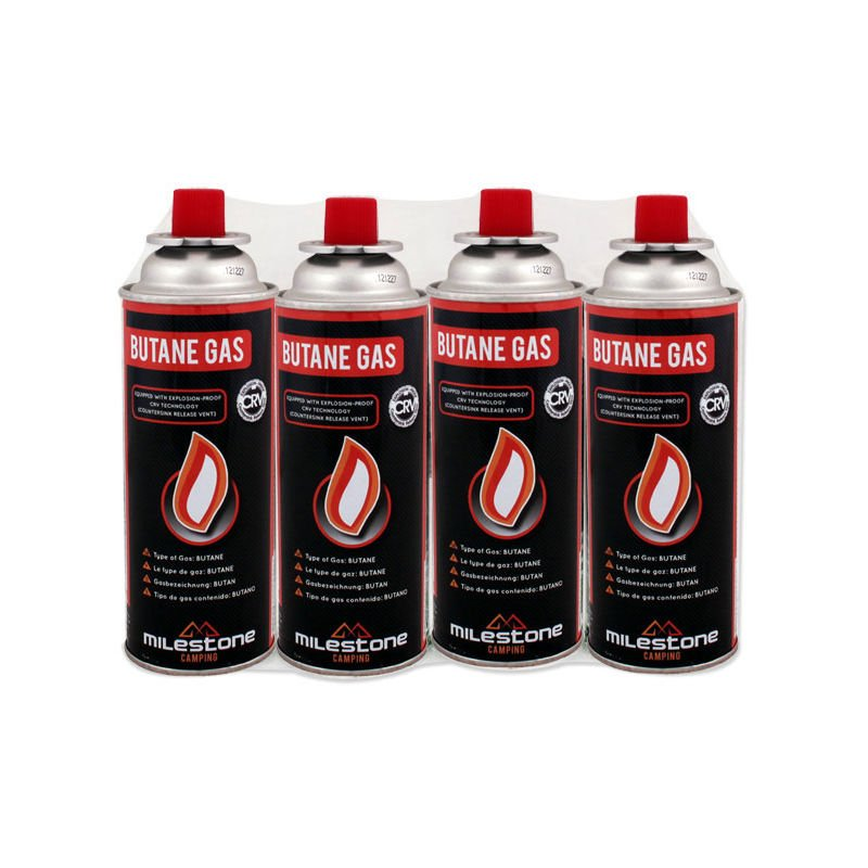 4 X Butane Gas Canisters For Cookers Heaters Camping Refills