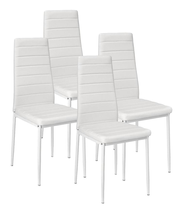 4 x chaises de salle à manger chaise de cuisine blanc chaise chaises ligne horizontale
