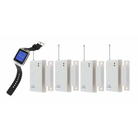 4 x Door Alert Watch & Pager System [009-3245]