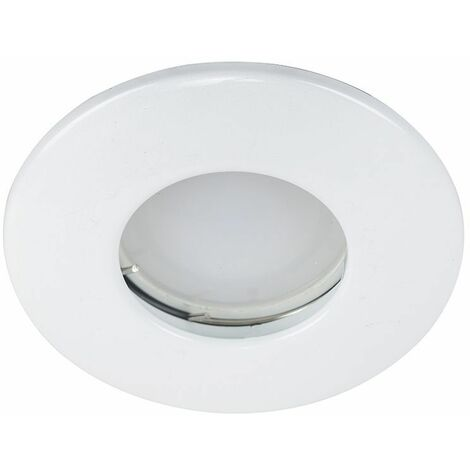 4 x Fire Rated Bathroom IP65 Domed Ceiling + GU10 LED Bulbs