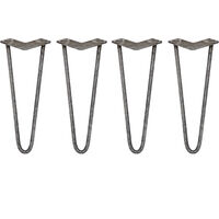 4 x Hairpin Leg - 14 - Unfinished - 2 Prong - 12m