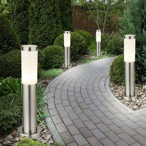 4 x lampadaire IP44 luminaire sur pied éclairage espace extérieur jardin terrasse