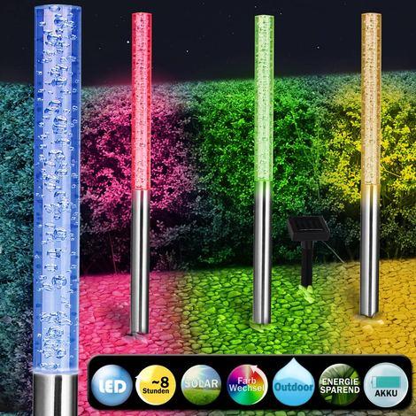 4 x Lampe solaire LED colorée - Lumière jardin extérieur couleur Éclairage