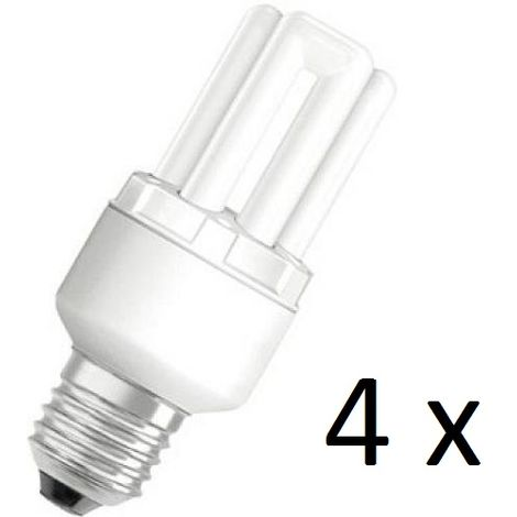 4 x Osram Dulux Star Superstar 8W/825 220-240V E27 Stick Lamp Light Bulb