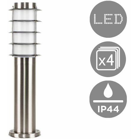4 X Outdoor Stainless Steel Bollard Lantern Light Post 450mm