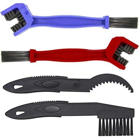 4 x outil de nettoyage de brosse pour chaîne de vélo de moto et engrenages de changement de vitesse (pignons)
