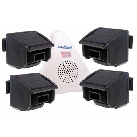 4 x PIR DA600-T Wireless Garden & Driveway Alarm Kit [004-5030]