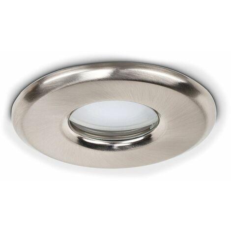 "main image of ""4 x Recessed Bathroom Ceiling Downlight Spotlights + 5W Cool White GU10 LED Bulbs - White"""