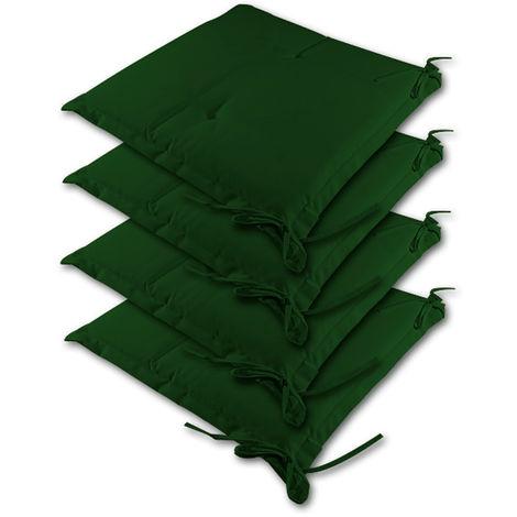 4 x Seat Cushions Sydney Green 38 x 40 cm