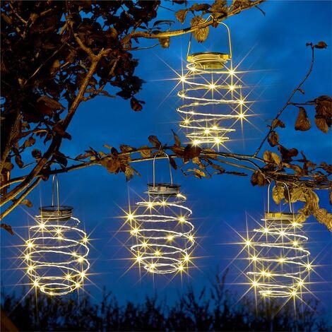 4 x Smart Garden Solar SpiraLights LED Lights Spiral Hanging Lanterns